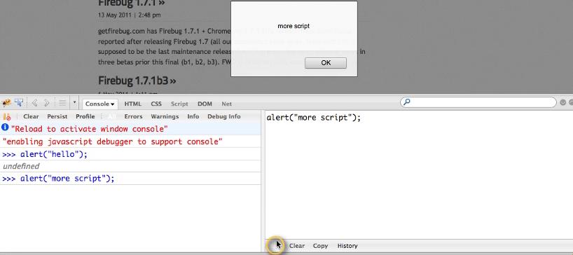 how to use firebug to debug javascript